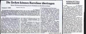 Zeitung 1988 Borreliose