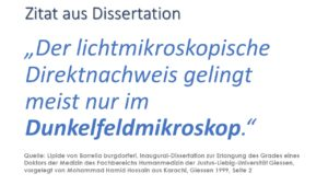 DFM Dunkelfeldmikroskopie Dissertation