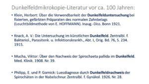 Dunkelfeld alte Literatur