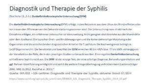 Diagnostik Syphilis mit DFM