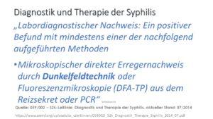 Diagnostik Syphilis