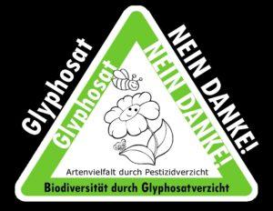 Aufkleber Glyphosat
